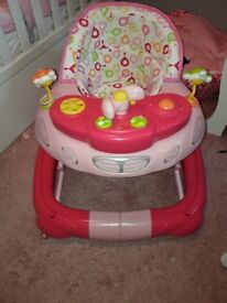 Pink 2 in1 my child walker/rocker