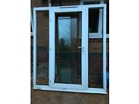 UPVC door with side screens
