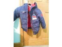 Marvel Spider Man Hooded Jacket 3-4 yrs VGC