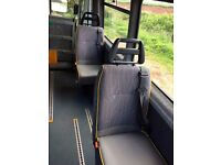 Mercedes Sprinter Minibus rear Single Seats with seatbelts