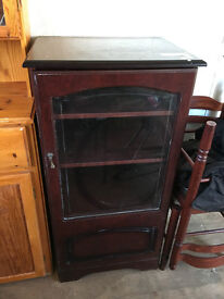 Mahogany glass fronted cabinet