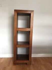 Solid wood tall storage unit