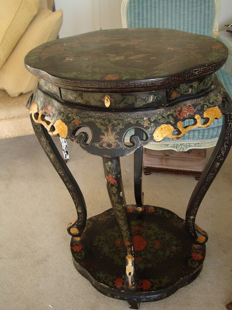 Lovely Antique Laquered & Gilded Table