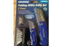 Set of two utility cutters with spare blades bargain.