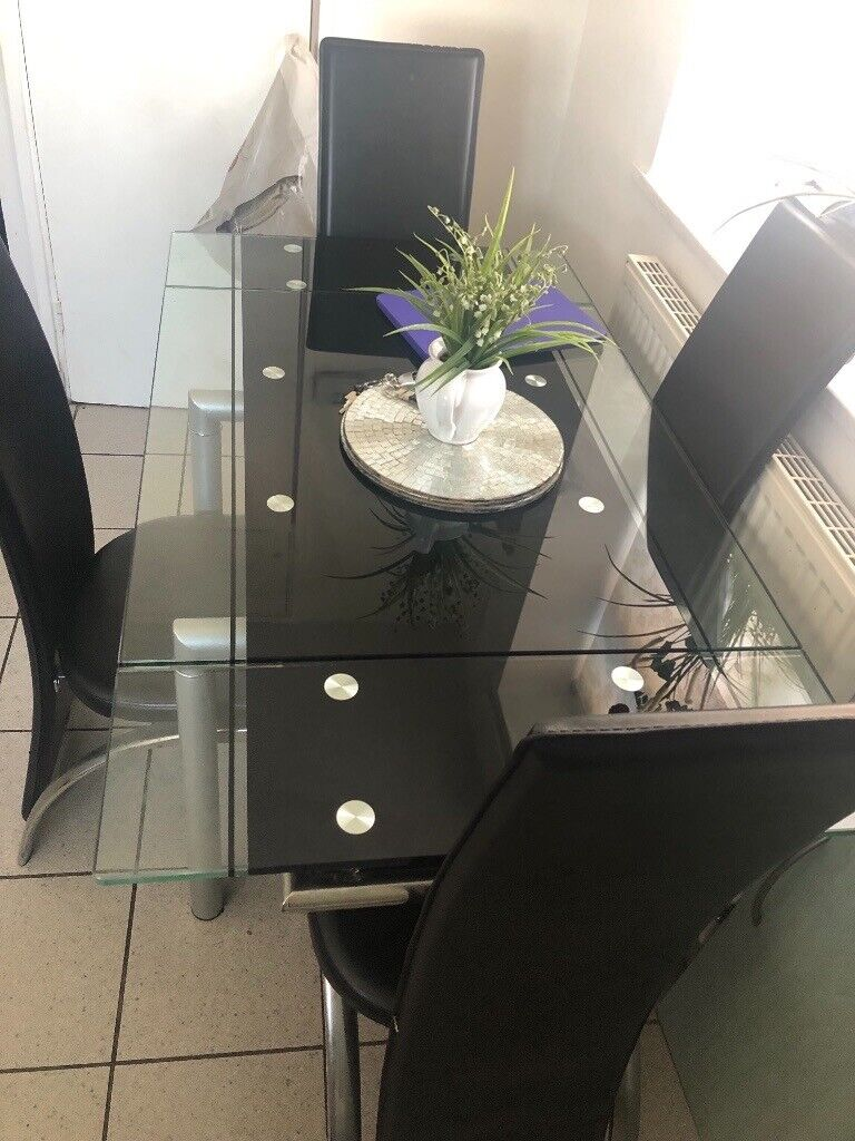 Extending Glass Dining Table And Chair In Seven Sisters London Gumtree