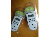 Pair of 24 Hour 7 Day Digital Programmable Timers