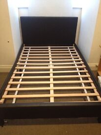 double bed leather look, 2 months old