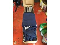 Pop up gazebo 4.5mx3m blue heavy duty material complete with carry bag