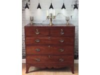 GEORGIAN TWO OVER THREE CHEST OF DRAWERS