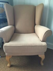 *SOLD* Queen Anne Wingback Armchair