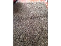 Beautiful large brown designer rug