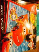 Lightening McQueen pool rider and toilet seat
