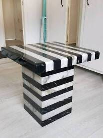 Set of 2 solid marble tables