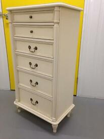 Laura Ashley Clifton Tallboy Chest of drawers Sideboard Dresser Furniture Lombok raft
