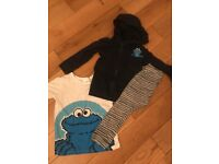 Cookie Monster clothing set age 3-4