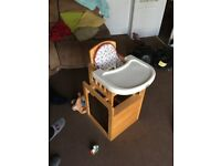 High chair /chair and table