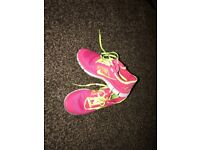 Pink women's Nike trainers size 3- immaculate conition