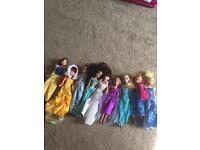 Disney princesses and barbies
