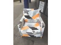 Funky patterned armchair