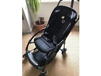 Bugaboo Bee Plus all black (2013) with cocoon, raincover