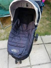 Baby Jogger City Mini with footmuff