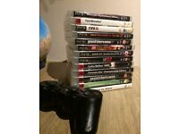 PlayStation 3 PS3 games and PS3 controller, gta4, minecraft