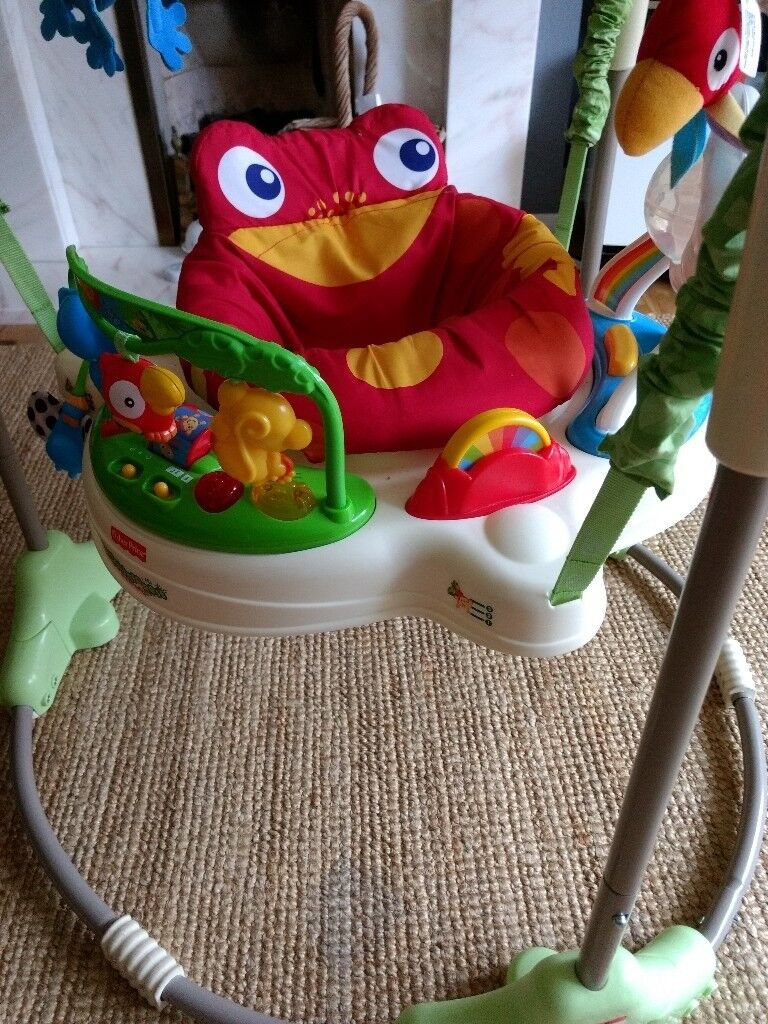 1e494714770a Jumperoo Rainforest Baby Bouncer by Fisher Price Great Condition