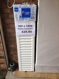 CENTRAL HEATING RADIATOR CENTERRAD Double Convector 300 mm high x 1200 mm long.