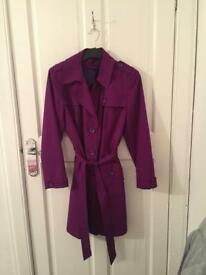 M&S plum coat and handbag
