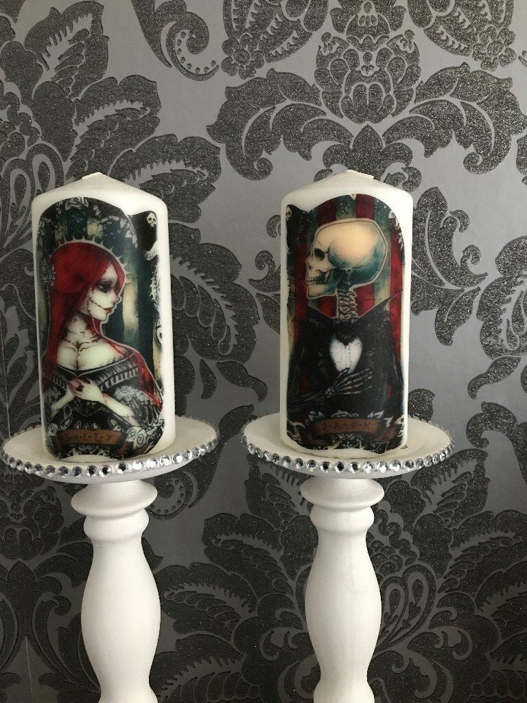 pair of candles jack & sally