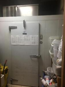 Curtis Walk In Cooler and Freezer - Great Shape - Unreserved Sold by Auction OCT 17 - STOREY'S - Complete Coffee Shop