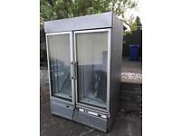 Double door steel commercial freezer
