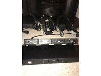 ASL communication system - PSU/Master station - 4 beltpacks - Beyer headsets