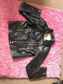 Faux leather look jacket