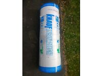 4 rolls knauf 200mm loft insulation. New