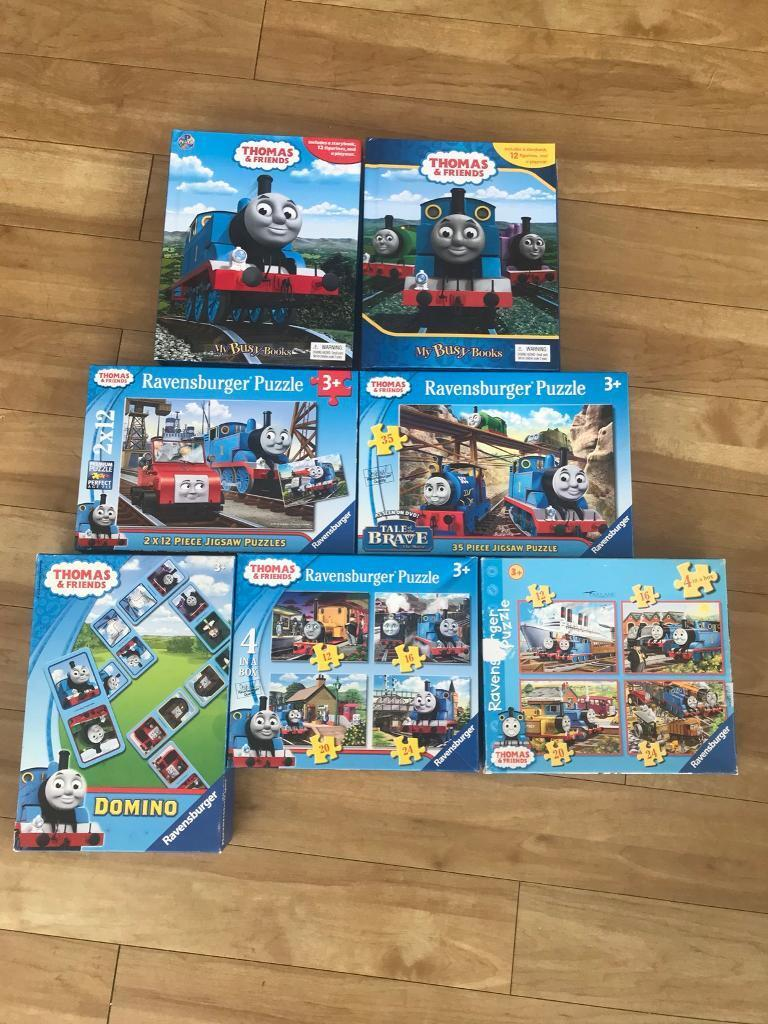 Thomas tank engine jigsaws, dominos and busy books set