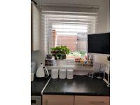 White Kitchen/Bathroom Faux Wood Venetian Blinds