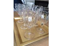 NEW UNUSED X10 Crystal Effect Acrylic glasses