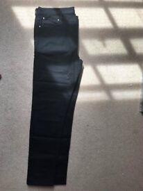 Mens Asos Design Plus Skinny Jeans in Black W42inxL34in