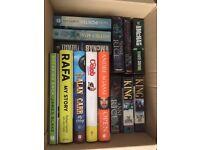 Job Lot of 20 Books inc. Stephen King, Andy McNab, Autobiographies, Terry Pratchett, Anne Rice