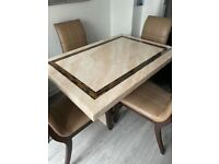 Dinning table &4 chairs & lamp table