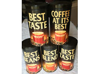 Nescafe Storage Tins - 5 Collectables