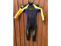 Two boys full length summer wetsuits XXS and S