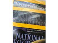 National Geographic Magazines x6