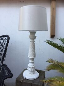 Art Deco table lamp in white