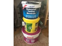 Job Lot DIY Supplies - Waterproof Tanking Membrane, Tile Adhesive & Cement