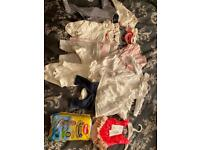 Baby girl newborn / up to one month clothing bundle
