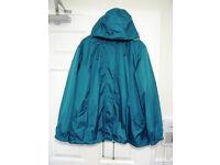 Aquamarine lightweight lined raincoat size 20/22