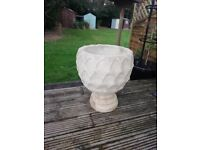 Reconstituted Stone Large Garden Planter and Lovely Stand