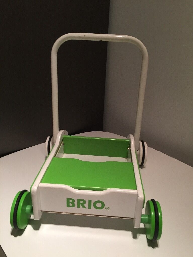 Brio Walker Green and White
